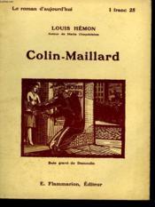 Colin-Maillard. Collection : Le Roman D'Aujourd'Hui N° 30 - Couverture - Format classique