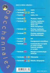 SVT ; 124 sujets du bac et résumé de cours (Bac 2003) - 4ème de couverture - Format classique