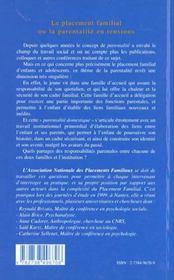 Revue Africultures T.31 ; Le Placement Familial Ou La Parentalité En Tensions ; Actes Des Journées D'Etudes 1999 Nantes - 4ème de couverture - Format classique