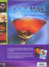 Encyclopedie des cocktails - 4ème de couverture - Format classique