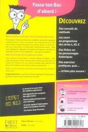 Le Bac Histoire Pour Les Nuls - 4ème de couverture - Format classique