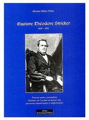 Gustave Theodore Stricker - Couverture - Format classique