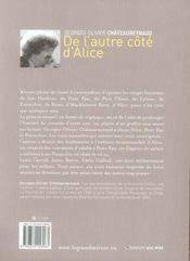 De l'autre côté d'Alice - 4ème de couverture - Format classique