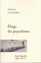Éloge du populisme - Couverture - Format classique