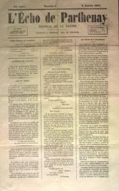 Echo De Parthenay (L') N°2 du 08/01/1871 - Couverture - Format classique