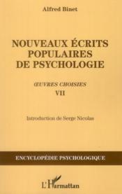 Nouveaux écrits populaires de psychologie ; oeuvres choisies VII - Couverture - Format classique