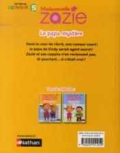 Mademoiselle Zazie ; le papa mystère - 4ème de couverture - Format classique
