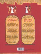 L'egyptologie ; tout ce qu'on sait - 4ème de couverture - Format classique
