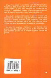 Histoires Droles Pour Les Vacances Poche - 4ème de couverture - Format classique