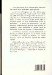 Histoire Fidele Bete Du Gevaudan - 4ème de couverture - Format classique
