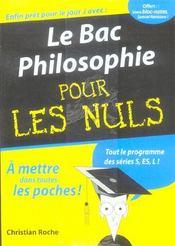 Le Bac Philosophie Pour Les Nuls (edition 2006) - Intérieur - Format classique