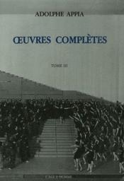 Oeuvres complètes t.3 - Couverture - Format classique