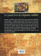 Le grand livre des legumes retrouves - 4ème de couverture - Format classique