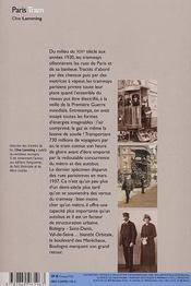Paris tram - 4ème de couverture - Format classique