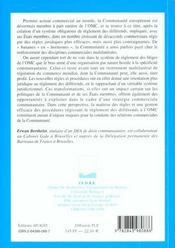 La Communaute Europeenne Et Le Reglement Des Differents Au Sein De L'Omc - 4ème de couverture - Format classique