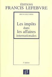 Impots dans les affaires internationales - Intérieur - Format classique