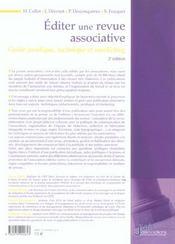 Editer Une Revue Associative. Guide Juridique, Technique Et Marketing - 2e Ed. - 4ème de couverture - Format classique