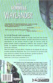 Le cycle de Drenaï - Waylander t.1 - 4ème de couverture - Format classique