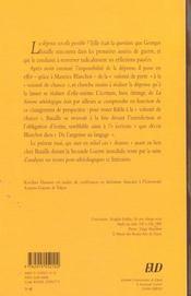 Georges Bataille ; La Perte Le Don Et L'Ecriture - 4ème de couverture - Format classique