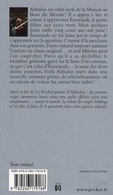 La rédemption d'Althalus - 4ème de couverture - Format classique