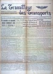 Travailleur Des Transports (Le) N°312 du 01/05/1938 - Couverture - Format classique