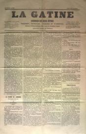 Gatine (La) N°1 du 19/03/1871 - Couverture - Format classique