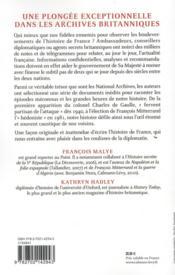 Dans le secret des archives britanniques ; l'histoire de France vue par les Anglais, 1940-1981 - 4ème de couverture - Format classique