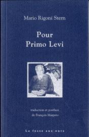 Pour Primo Levi - Couverture - Format classique