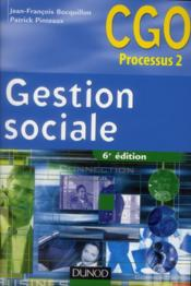 Gestion sociale ; manuel (6e édition) - Couverture - Format classique