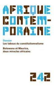 Afrique Contemporaine N.242 - Couverture - Format classique