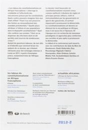 Afrique Contemporaine N.242 - 4ème de couverture - Format classique