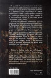 La premiere République ; 1792-1799 - 4ème de couverture - Format classique