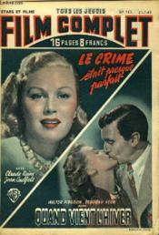 Stars Et Films - Tous Les Jeudis Film Complet N° 163 - E Crime Etait Presque Parfait - Quand Vient L'Hiver - Couverture - Format classique