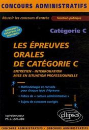 Les Epreuves Orales De Categorie C Entretien Interrogation Mise En Situation Professionnelle - Intérieur - Format classique