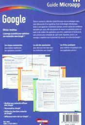Google - 4ème de couverture - Format classique