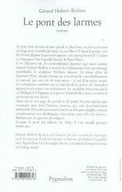 Le Pont Des Larmes - 4ème de couverture - Format classique