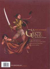 La geste des chevaliers dragons t.3 ; le pays de non-vie - 4ème de couverture - Format classique