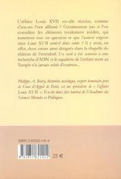 Louis Xvii Avait-Il Deux Coeurs ? - 4ème de couverture - Format classique