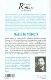 Marie De Medicis - 4ème de couverture - Format classique
