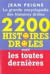 La Grande Encyclopédie Des Histoires Drôles. 2200 Histoires Drôles - Intérieur - Format classique