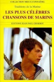 Les plus celebres chansons de marins - Couverture - Format classique
