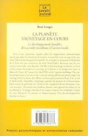 La Planete Sauvetage En Cours 25 - 4ème de couverture - Format classique