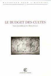 Le budget des cultes - Intérieur - Format classique