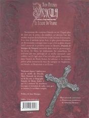 Dracula, Le Lexique Du Vampire - 4ème de couverture - Format classique