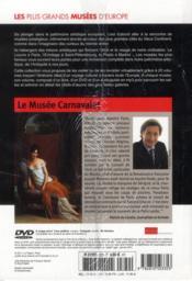 Le musée Carnavalet ; Paris - 4ème de couverture - Format classique