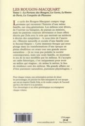 Les Rougon-Macquart t.1 ; la fortune des Rougon ; la curée ; le ventre de Paris ; la conquête de Plassans - 4ème de couverture - Format classique