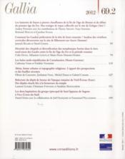 Revue Gallia N.69 ; T.2 - 4ème de couverture - Format classique
