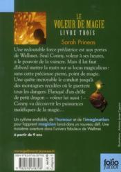 Le voleur de magie t.3 - 4ème de couverture - Format classique