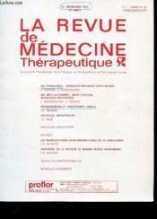 La Revue De Medecine Therapeutique 14e Annee N°45 - Couverture - Format classique