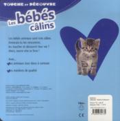 Touche Et Découvre ; Les Bébés Calins - 4ème de couverture - Format classique
